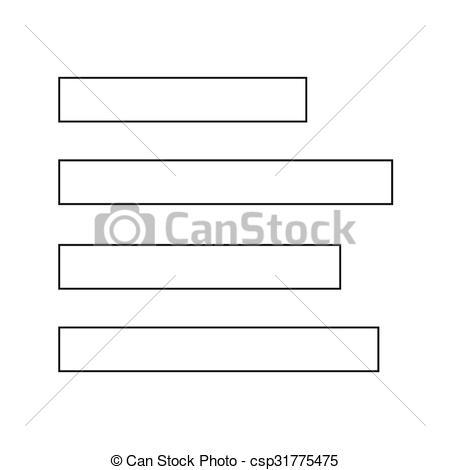 Vectors Illustration of align left icon sign Illustration.
