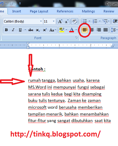 How to align clipart in word.