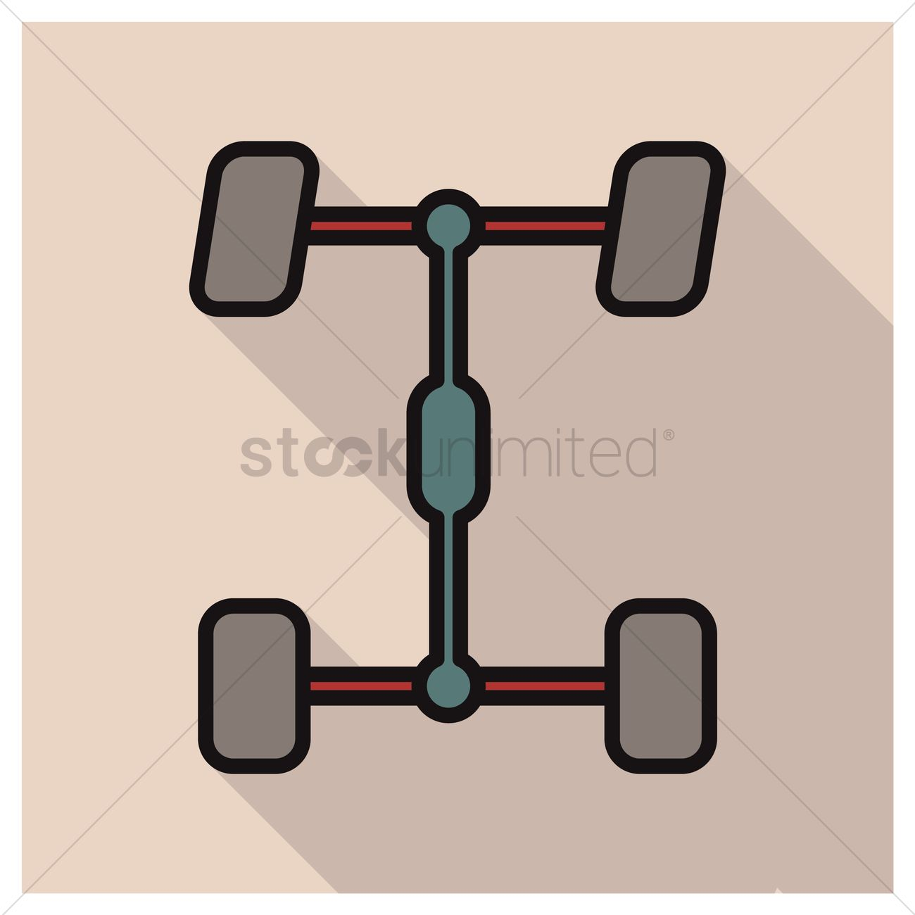 Wheel alignment Vector Image.
