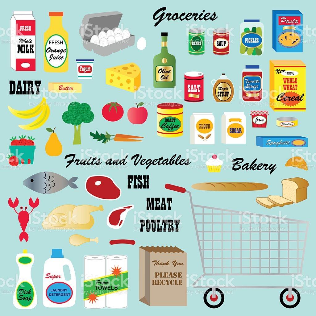 Negozio Di Generi Alimentari Clipart Illustrazione 497568966.