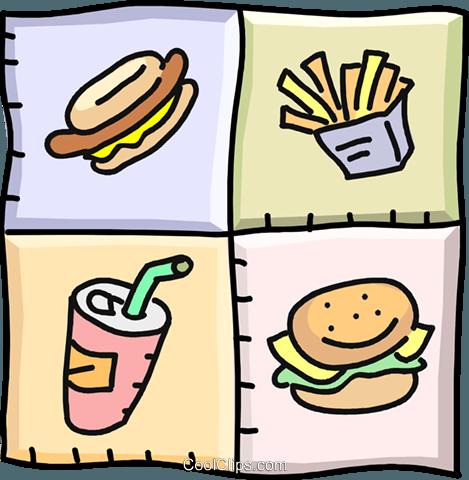 disegni prodotti alimentari, fast food immagini grafiche.