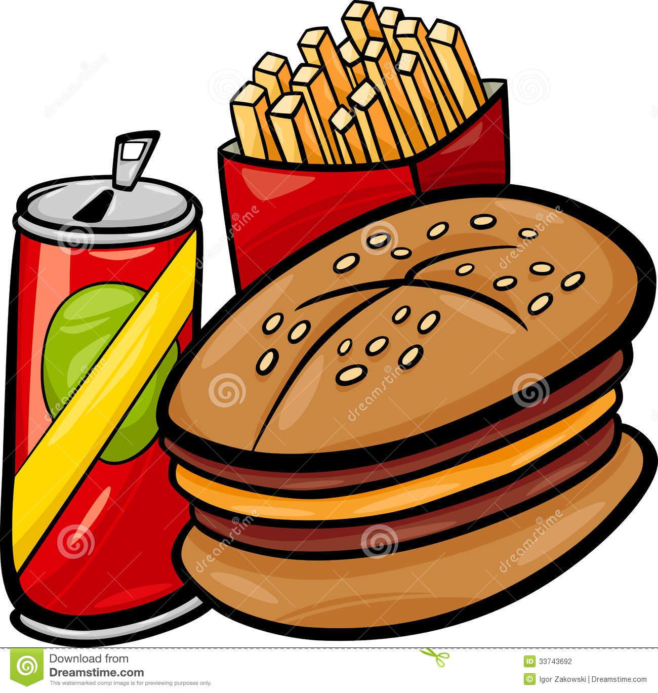 Clipart Del Fumetto Degli Alimenti A Rapida Preparazione.