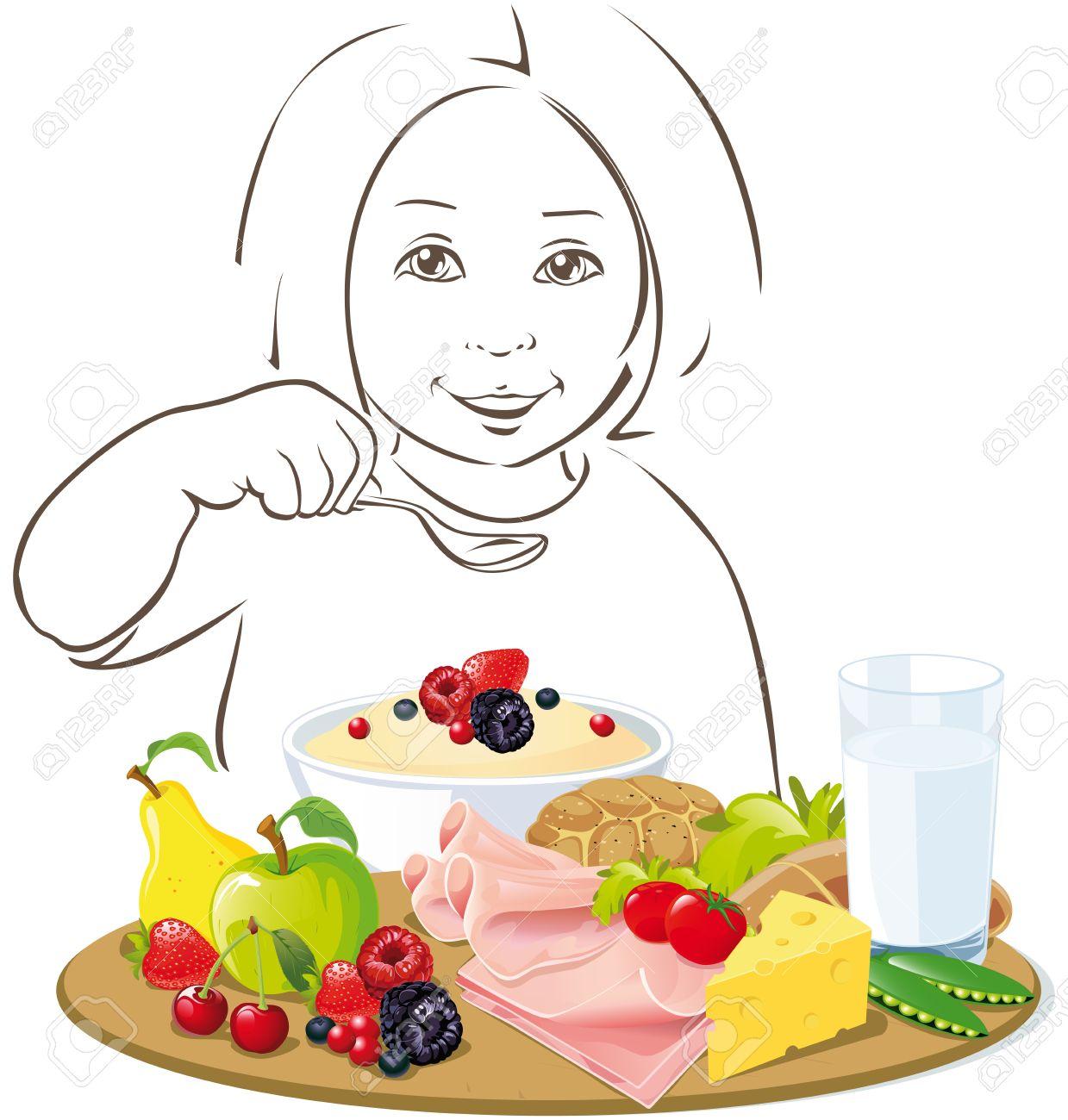 La Saine Alimentation Des Enfants.