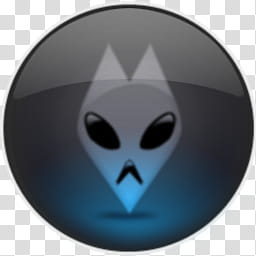 Inner Blue Circle, round black aline logo art transparent.