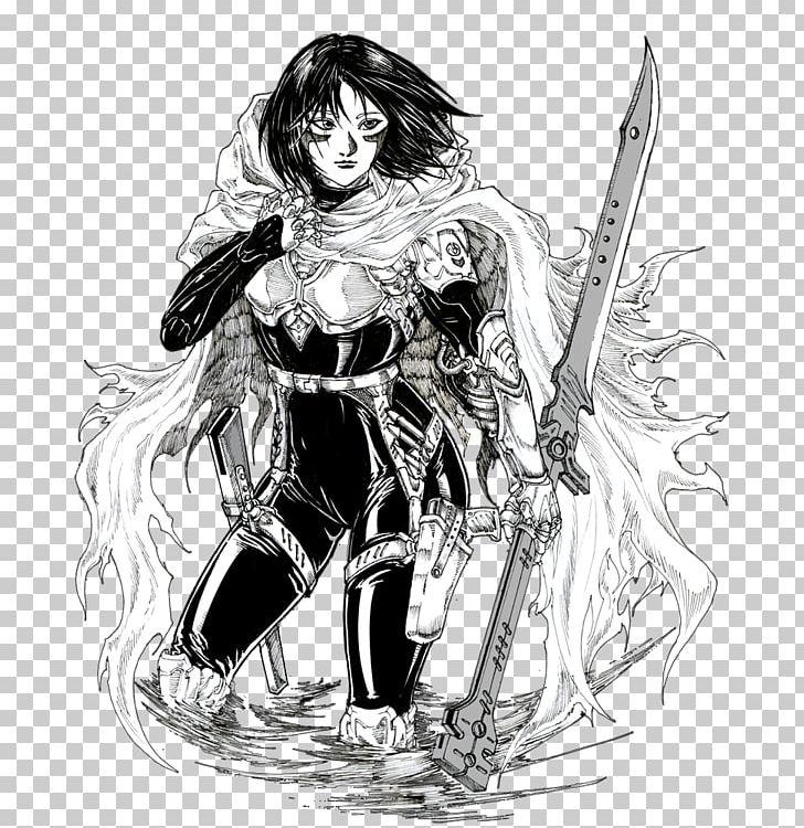 Battle Angel Alita Drawing Fan Art Sketch PNG, Clipart.