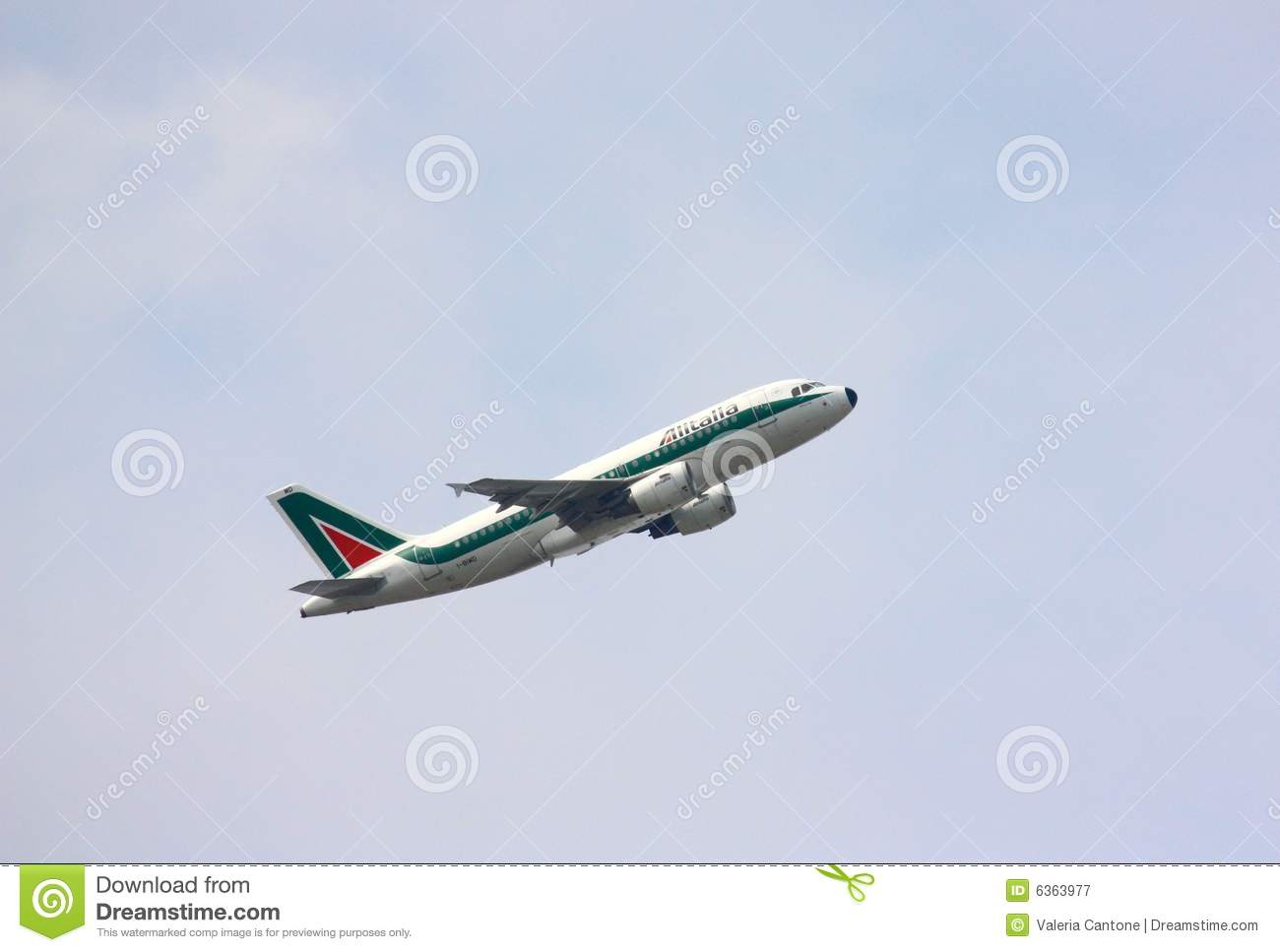 Alitalia Airplane Parked In Rome Editorial Stock Photo.