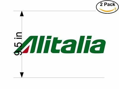 Airlines Alitalia Airlines Logo 2 Stickers 9.5 Inches Sticker Decal.