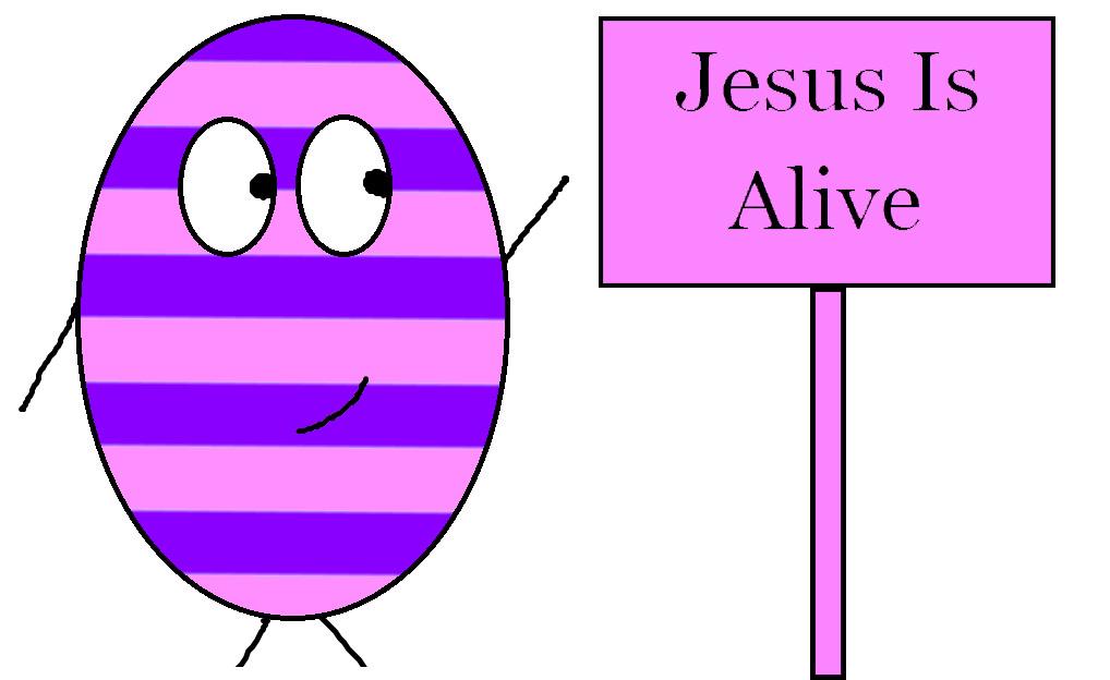 Jesus Is Alive Clipart.