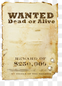 Wanted Dead Or Alive PNG and Wanted Dead Or Alive.