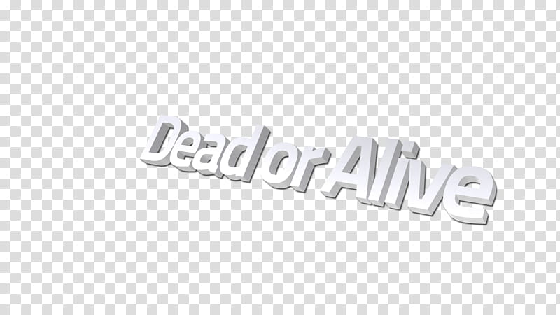 Dead or Alive text transparent background PNG clipart.
