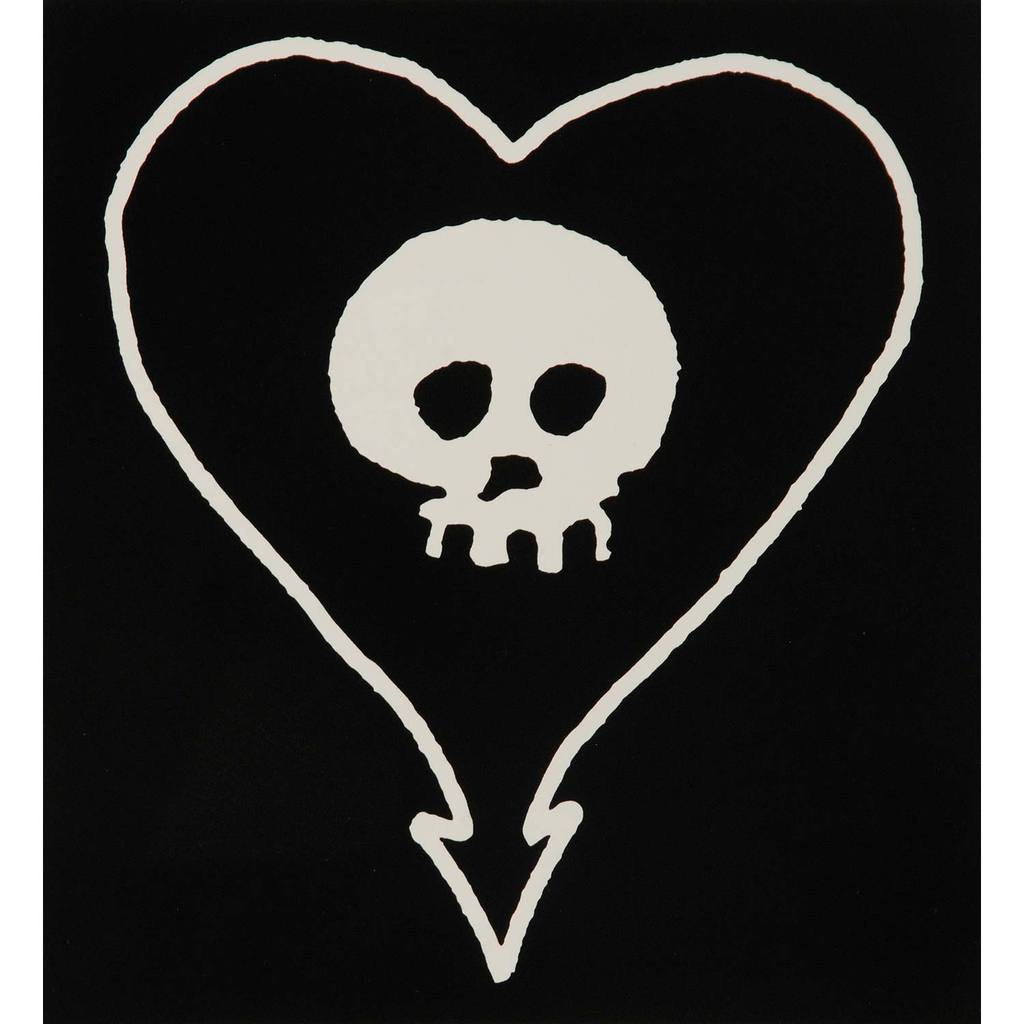 Heartskull Vinyl Sticker Sticker.