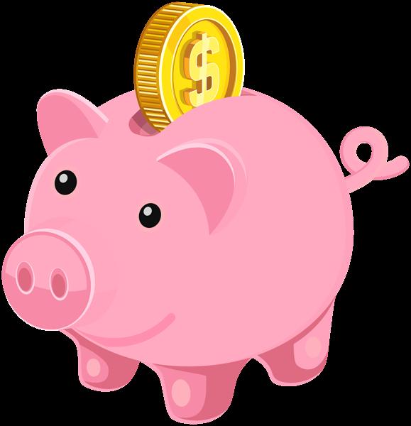 Piggy bank clip art image.