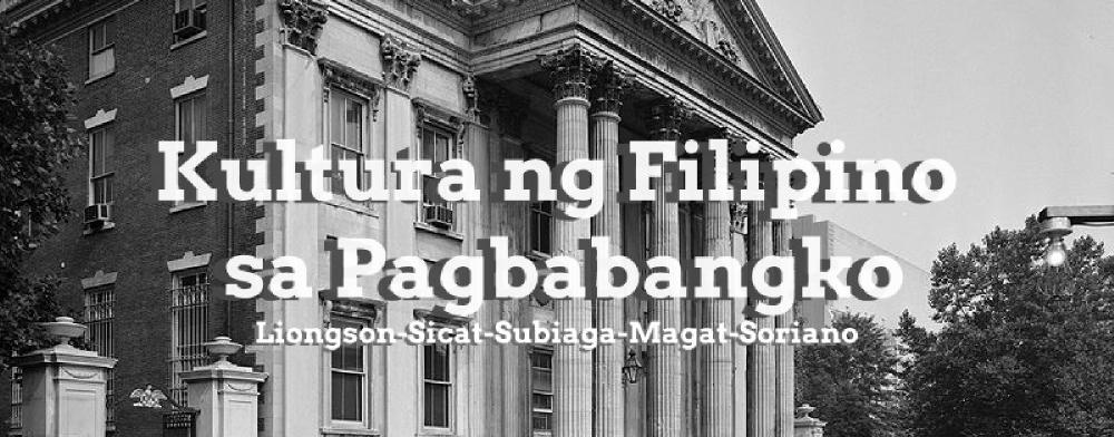 Kultura ng Pilipino sa Pagbabangko.