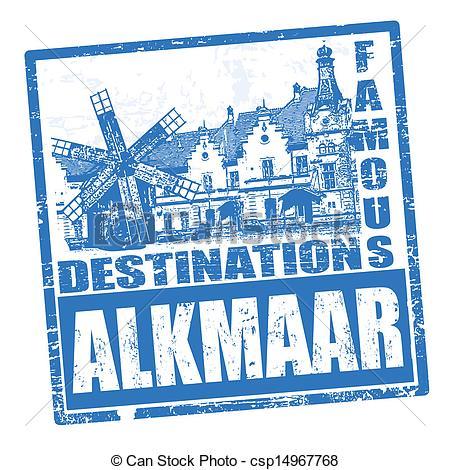 Clip Art Vector of Alkmaar stamp.