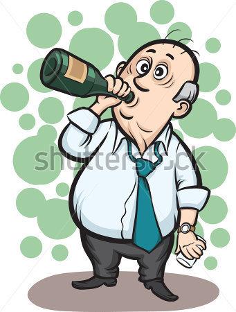 Alkohol Trinken Clipart.
