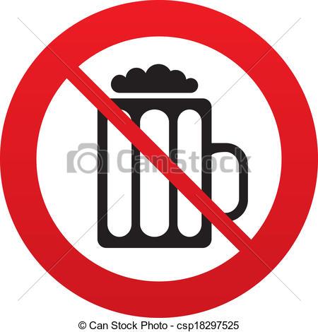Vektor Illustration von alkohol, nein, Getränk, symbol, zeichen.