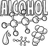 Alcoholism Clip Art.