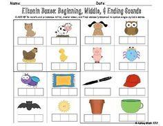 Elkonin Boxes: Beginning, Middle, & Ending Sounds.