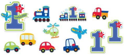 All Aboard 1st Birthday Cutouts 3ct.