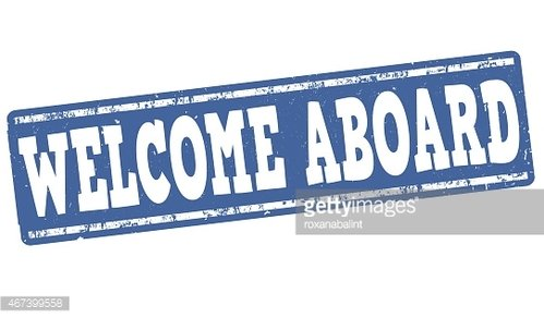Welcome Aboard Stamp premium clipart.