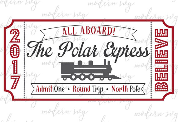 Polar Express Ticket, Polar Express, Fixer Upper Christmas.