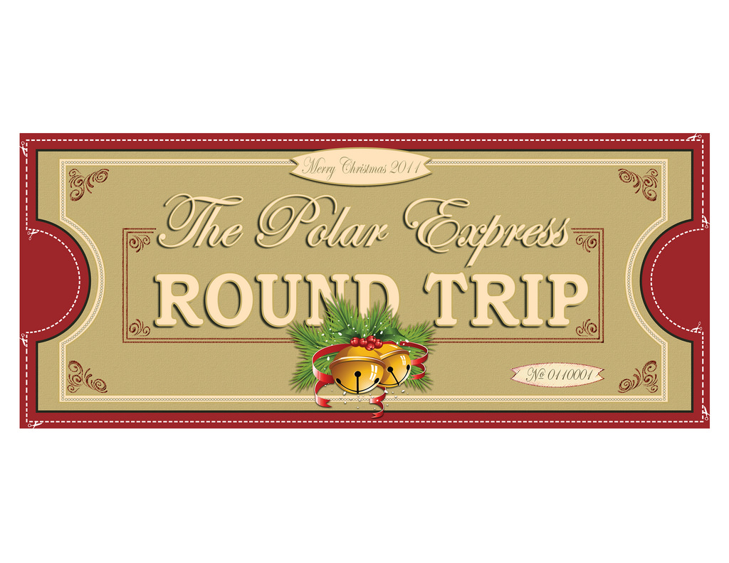 Polar Express Ticket Clipart.