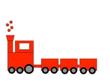 All Aboard! Train Clipart Package.