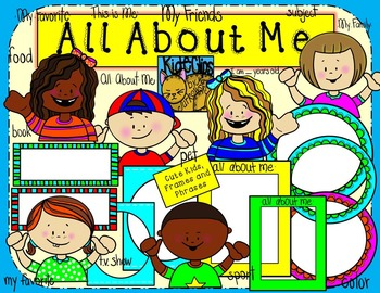 All About Me Kids and Frames Clip Art Kid.