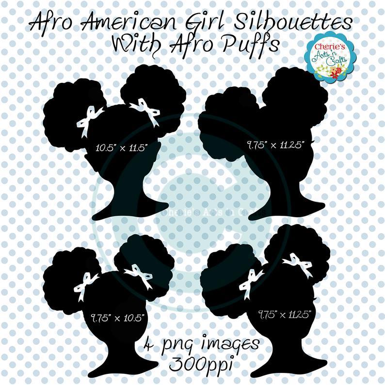 Afro Puffs Clip Art.