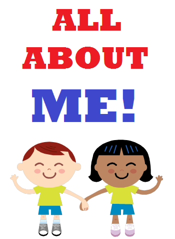 clip art coloring pictures all about me theme.