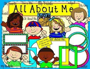 All About Me Clipart.