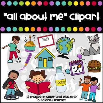 All about me Clipart Set.