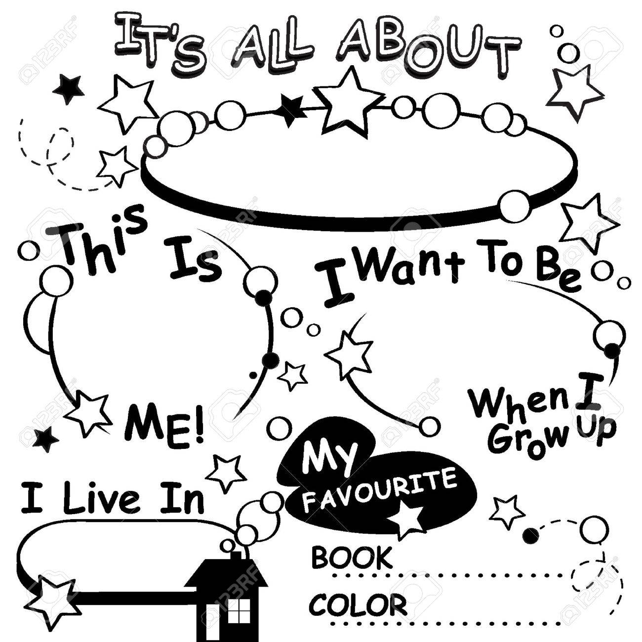 Coloring Page All about me. Great for the first day of school,...