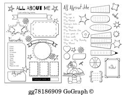 All About Me Clip Art.