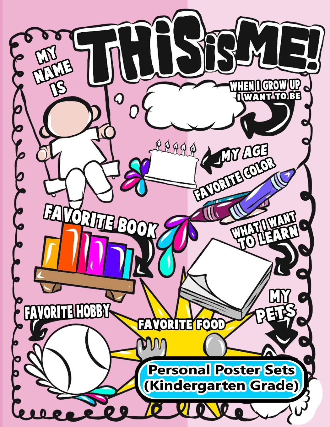 Buy Personal Poster Sets (Kindergarten): All About Me Fill.