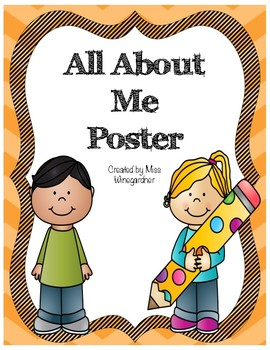 All About Me Poster.
