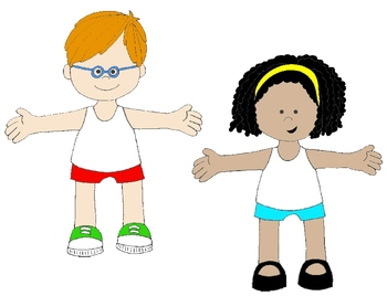 My Body Clipart For Kids.
