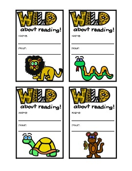 Wild About Reading Bookmarks.