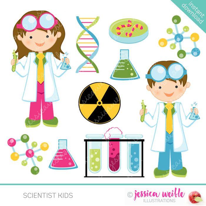 Scientist Kids Cute Clipart Science Kids Science Clip art.