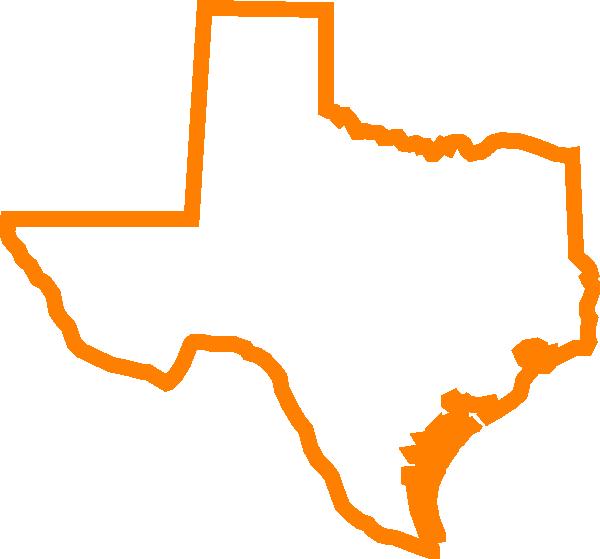Texas Orange clip art.