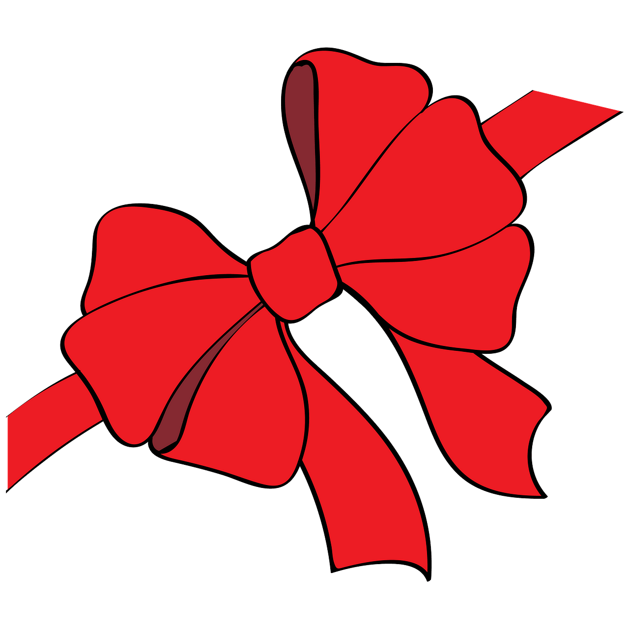 Red Christmas Bow clipart. Free download..