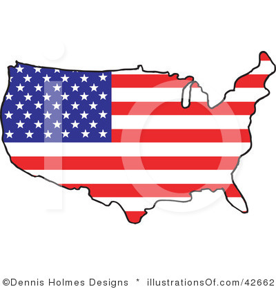 United States Clip Art Map.