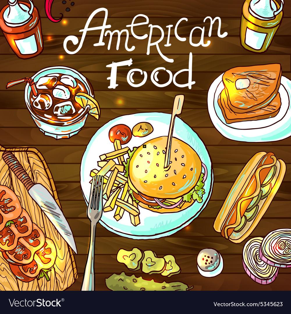 American food.