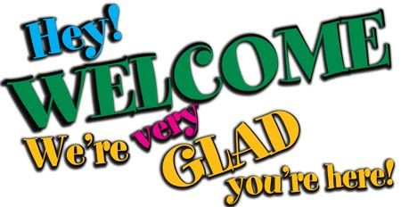 Glad You Are Welcome Here Clip Art.