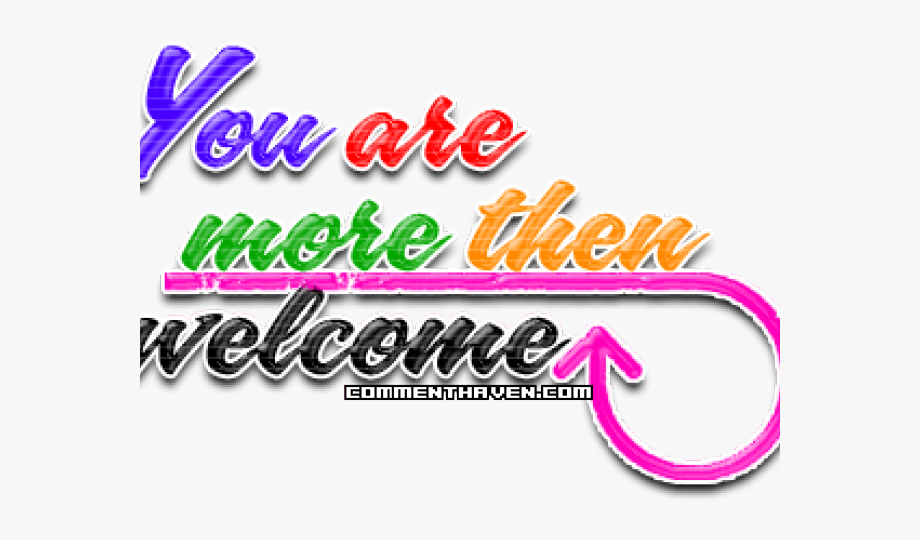 You Are More Than Welcome, Cliparts & Cartoons.