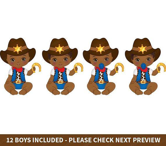 Cowboy Baby Clipart.