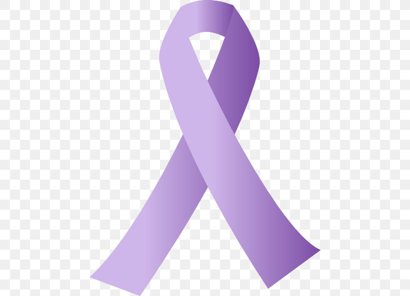 Awareness Ribbon Cancer Purple Clip Art, PNG, 462x593px.