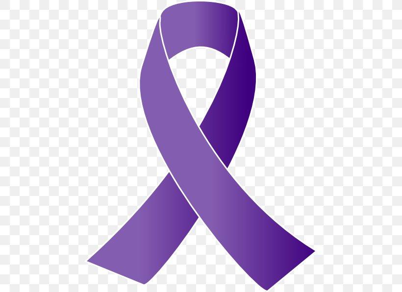 Cancer Awareness Ribbon Purple Ribbon Clip Art, PNG.