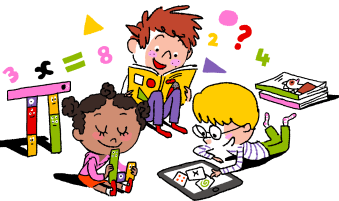 Pictures Of Children Learning Clipart.