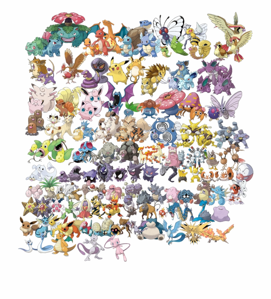 Best Pokemon Games Transparent Background All Old Pokemon.